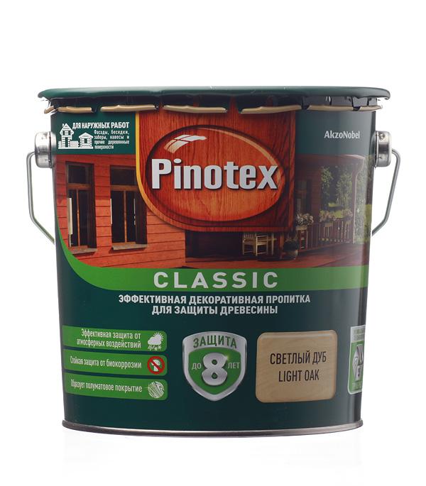 Купить Декоративно-защитная пропитка для древесины Pinotex Classic дуб 2.7 л, Дуб