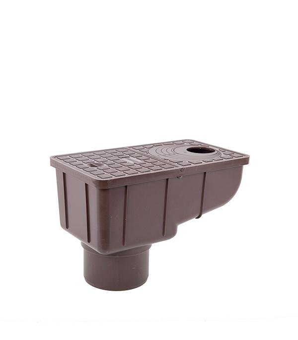 Купить Ливнеприемник вертикальный с сеткой REDI/Europlast коричневый, Пластик