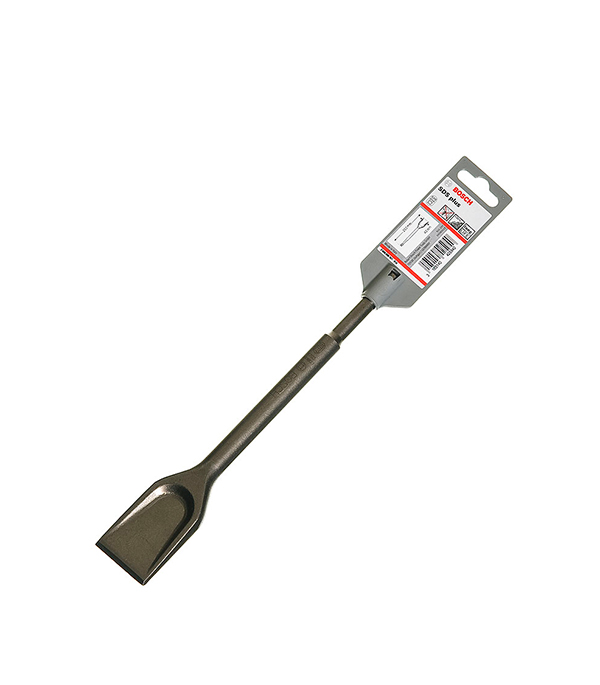 Зубило SDS-plus лопаточное Bosch Профи 40х250 мм диск шлифовальный с липучкой р40 d 125 мм 5 шт перфорированный bosch профи