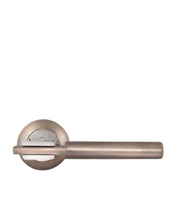 Дверная ручка Palladium City A Rio AB/CP античная бронза/хром фиксатор palladium city cr bk ab cp бронза