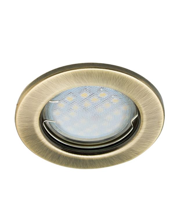 Светильник встраиваемый для лампы MR16 80мм черненая бронза