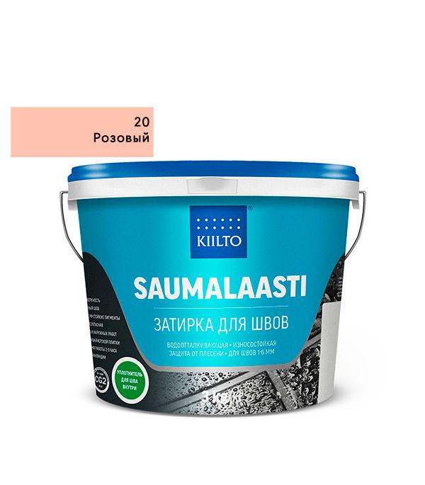Затирка Kiilto Saumalaasti №20 розовый 3 кг затирка kiilto saumalaasti 93 фиолетовый 1 кг