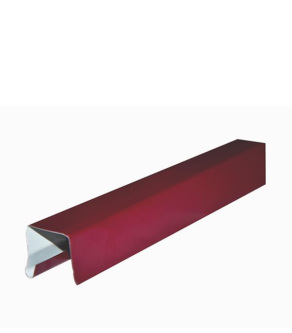 Планка заборная П-образная 10х30х2000 мм красное вино RAL 3005 планка торцевая для металлочерепицы 80х100 мм 2 м красное вино ral 3005