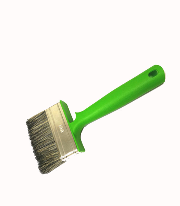 Кисть плоская Стандарт смешанная щетина пластиковая ручка 100х255 мм кисть плоская 60 мм натуральная щетина прорезиненная ручка hardy стандарт
