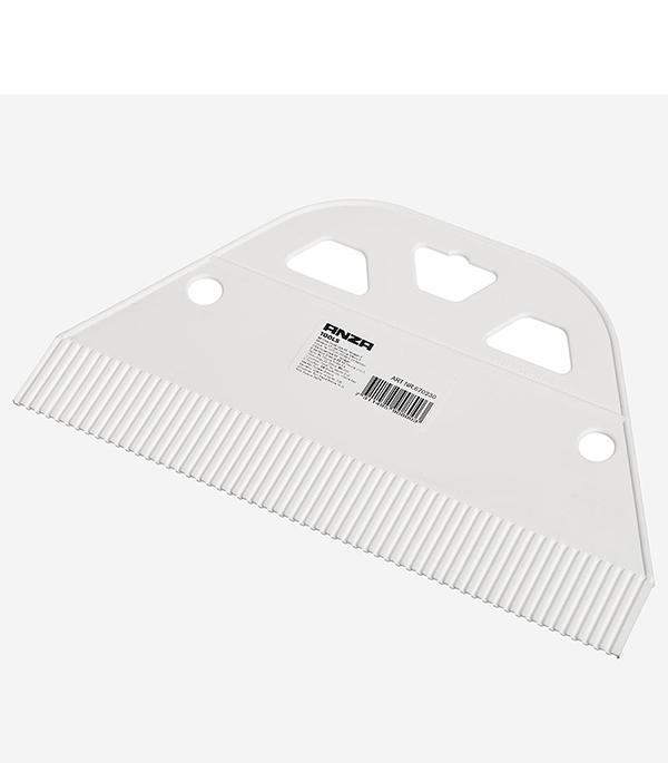 Шпатель для клея ANZA 230 мм крупный зуб с пластмассовой ручкой шпатель 280 мм для обоев anza профи