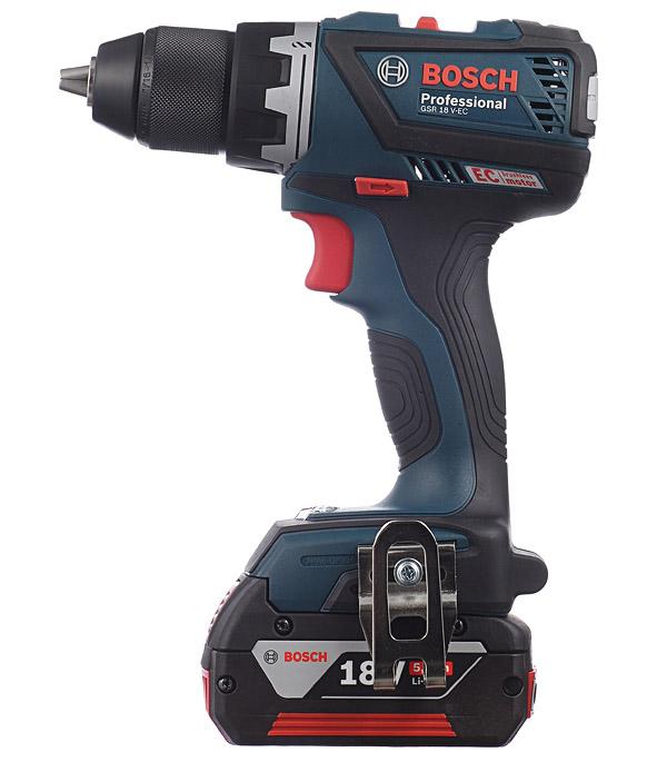 Купить Дрель-шуруповерт аккумуляторная Bosch GSR 18 V-EC Profi 18 В 5 Ач 60 Нм Li-Ion