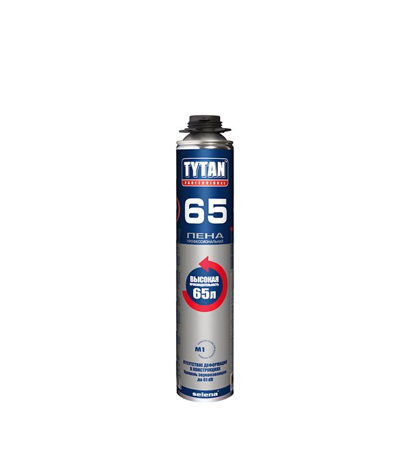 Пена монтажная Tytan 65 O2 профессиональная 750 мл пена монтажная tytan o2 std 750 мл