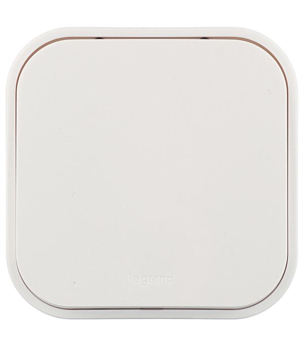 Выключатель одноклавишныйу LegrandQuteo о/ белый выключатель одноклавишный legrandquteo о у влагозащищенный ip 44 белый