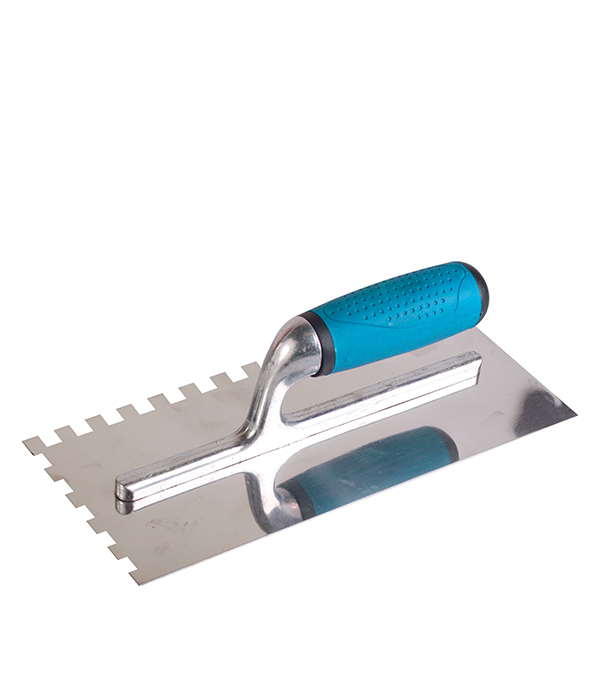 Гладилка зубчатая Brigadier 280х130 зуб 4х4 мм гладилка c двухкомпонентной ручкой нержавеющая сталь 280х130 мм