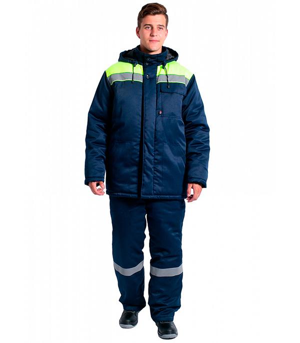 Куртка зимняя Delta Plus Эксперт-Люкс размер 52-54 рост 182-188 темно-синий/лимонный цвет куртка зимняя delta plus фаворит размер 56 58 рост 182 188