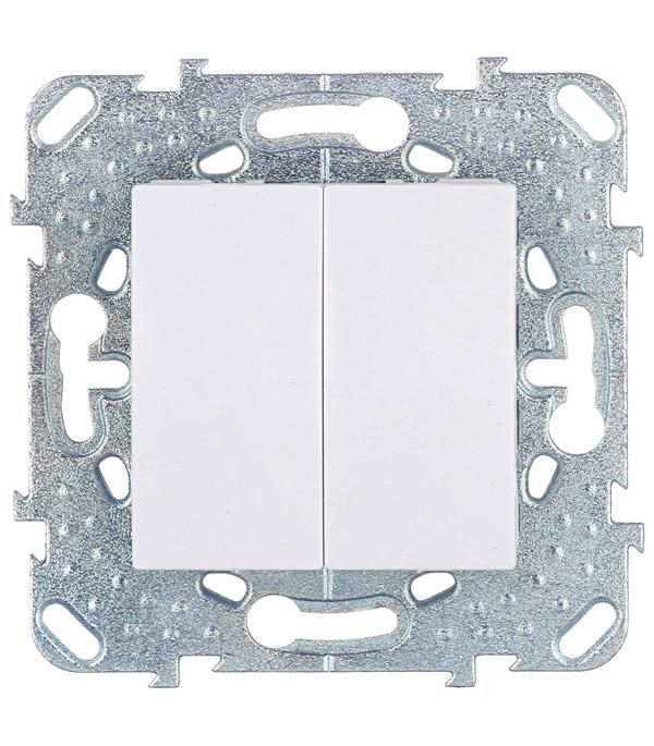 Механизм выключателя двухклавишного Schneider Electric Unica с/у белый механизм выключателя двухклавишного schneider electric unica с у бежевый
