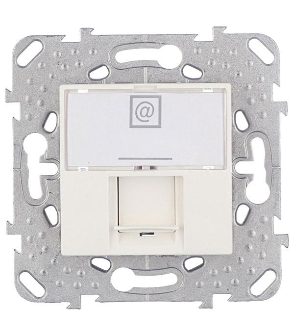 Механизм розетки компьютерной Schneider Electric Unica с/у бежевый механизм выключателя двухклавишного schneider electric unica с у бежевый