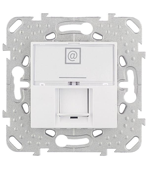 Механизм розетки компьютерной Schneider Electric Unica с/у белый механизм розетки компьютерной с у schneider electric unica бежевый