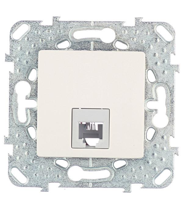 Механизм розетки телефонной Schneider Electric Unica с/у бежевый механизм выключателя двухклавишного schneider electric unica с у бежевый
