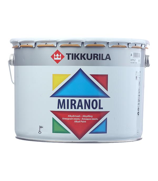 Купить Эмаль алкидная Tikkurila Miranol основа А глянцевая 9 л, Белый