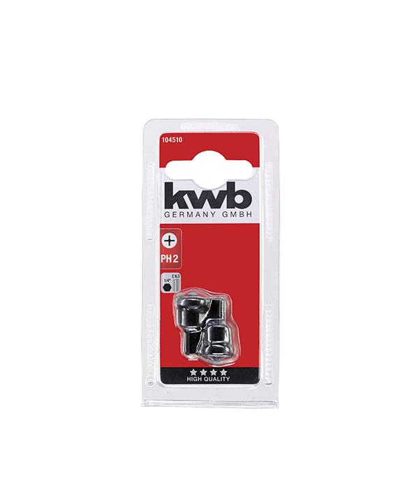 Бита KWB PH2 25 мм с ограничителем для ГКЛ (2 шт) бита jettools профи ph2 50 мм с ограничителем для гкл 2 шт
