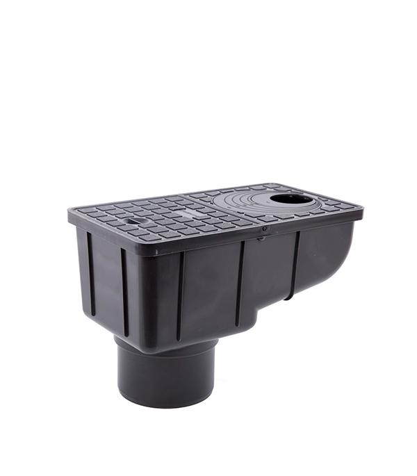 Купить Ливнеприемник вертикальный с сеткой REDI/Europlast черный, Пластик