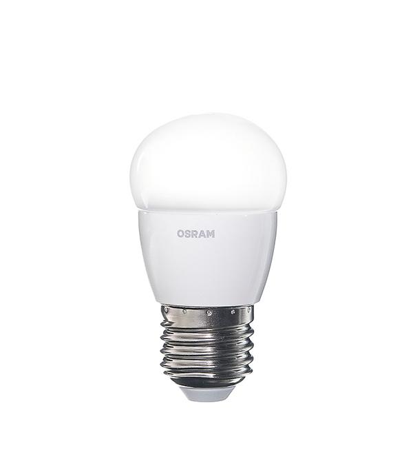 Лампа светодиодная E27, 5,4 (6) W, CLP40 (шар) 2700K (теплый свет), Osram