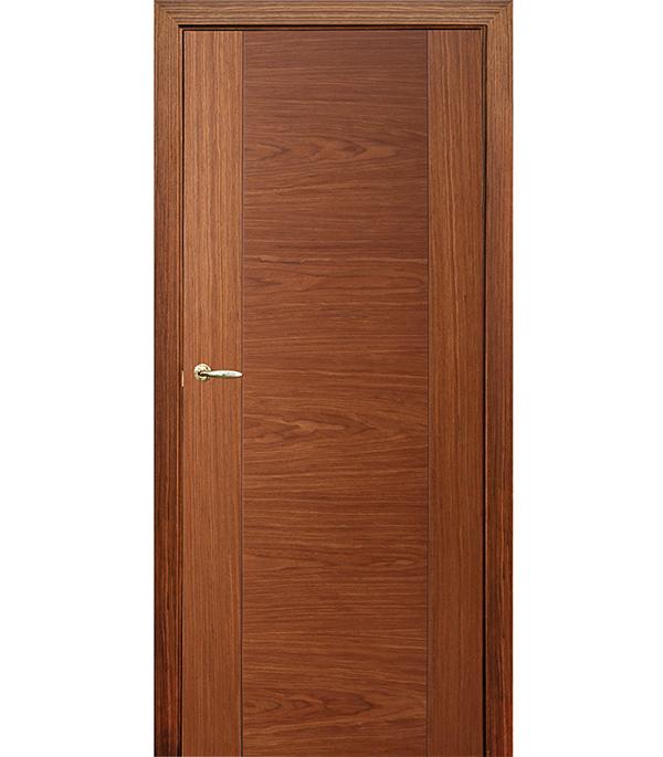 Дверное полотно шпонированное Vario орех 2000х900 мм глухое без притвора