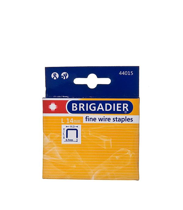 Скобы для степлера Brigadier 14 мм тип 53 (11.3х0.7) П-образные (1000 шт) скобы bosch для строительного степлера тип t53 6 мм 1000 шт