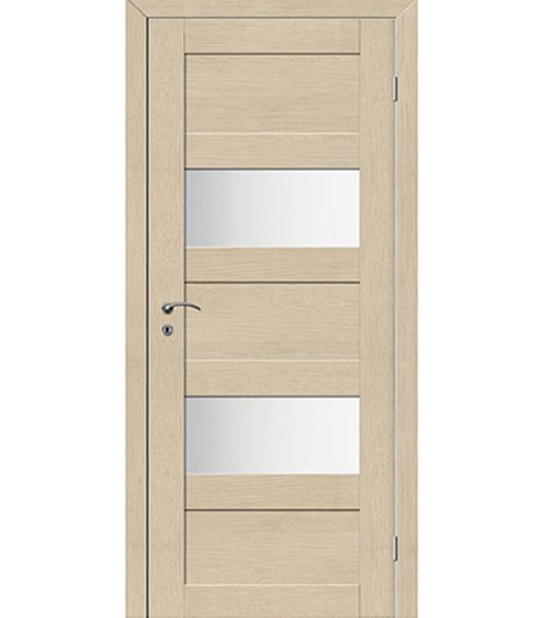 Дверное полотно экошпон TREND 5P капучино 620x2000 мм со стеклом с притвором дверное полотно экошпон trend 5p капучино 820x2000 мм глухое с притвором