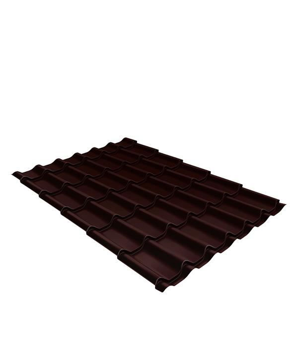 Купить Металлочерепица 1, 18х2, 25 м толщина 0, 5 мм Satin шоколад RAL 8017
