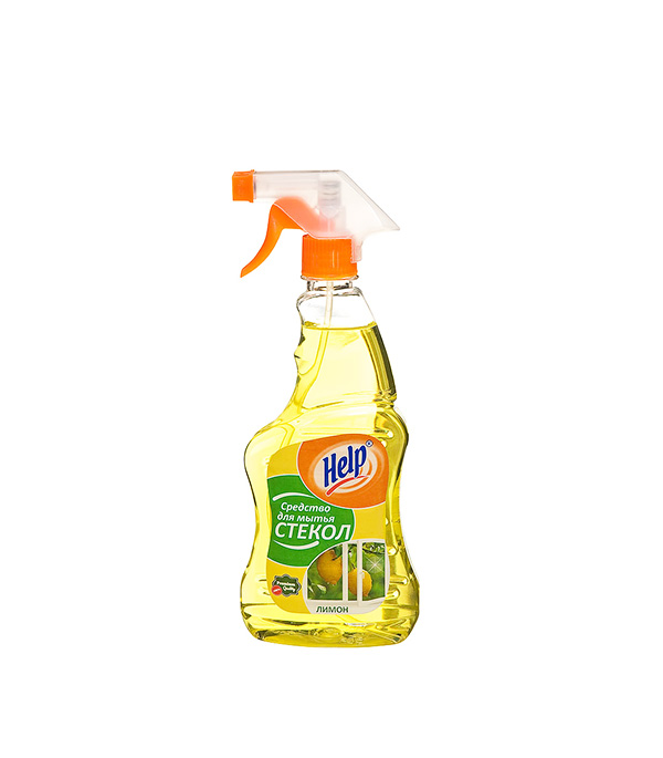 Средство для мытья стекол Help с распылителем Лимон 500 г швабра для мытья стекол с резинкой york 30см