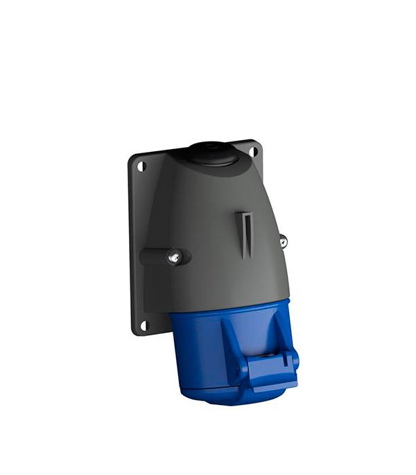 Розетка настенная ABB 230В 2P+E 32A IP44 розетка abb bjb basic 55 шато 2 разъема с заземлением моноблок цвет чёрный