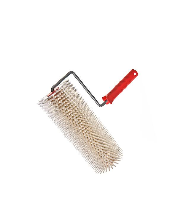 Валик игольчатый 300 мм игла 28 мм с рукояткой валик игольчатый romus 94241