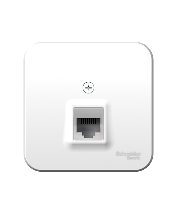 Розетка телефонная о/у Schneider Electric Blanca белый телефонная розетка abb bjb basic 55 шато 1 разъем цвет черный