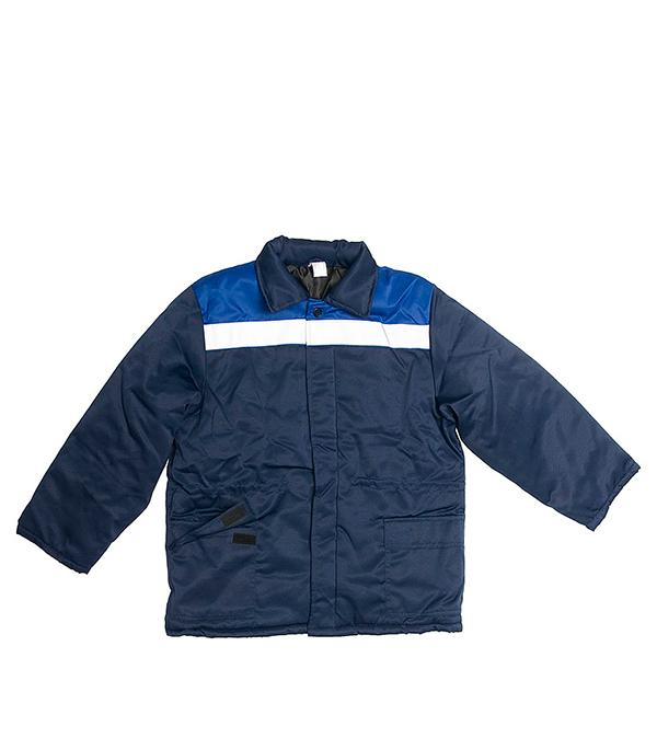 Куртка утепленная Стел Север темно-синяя размер 48-50 (96-100) рост 170-176