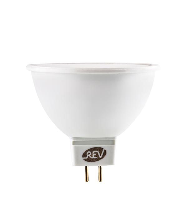 Лампа светодиодная MR16 GU5.3 5W, 3000K, теплый свет, REV