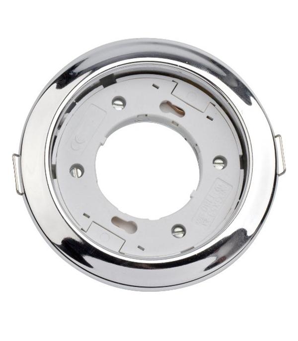 Светильник встраиваемый круглый хром 1хGX53 220В IP20