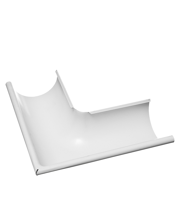 Купить Угол желоба внешний Grand Line 125/90° белый металлический, Белый, Металл