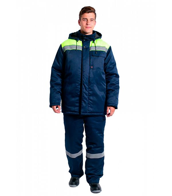 Куртка зимняя Delta Plus Эксперт-Люкс размер 56-58 рост 182-188 темно-синий/лимонный цвет куртка зимняя delta plus фаворит размер 56 58 рост 182 188