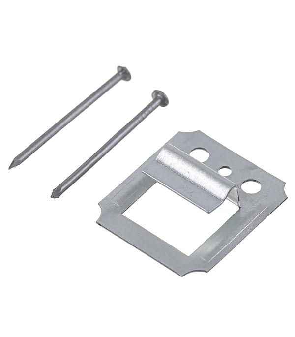 Крепеж кляймер №5 с гвоздями для вагонки и имитатора бруса (100 шт)