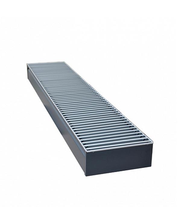 Конвектор внутрипольный Бриз 260x80х1800 с 1 медно-алюминиевым теплообменником правый КЗТО