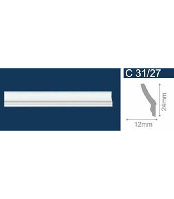 Плинтус из пенополистирола С31/27 24-12 2м Solid