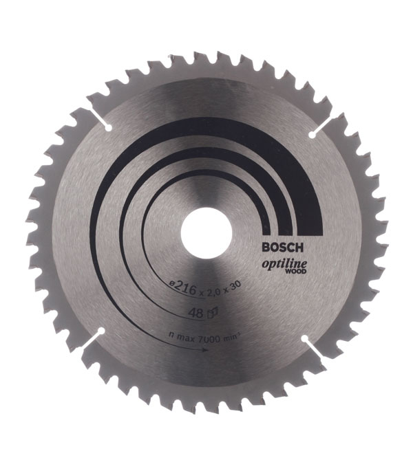 Диск пильный Bosch Optiline 216х48х30 мм диск пильный 190х24х30 мм optiline bosch профи
