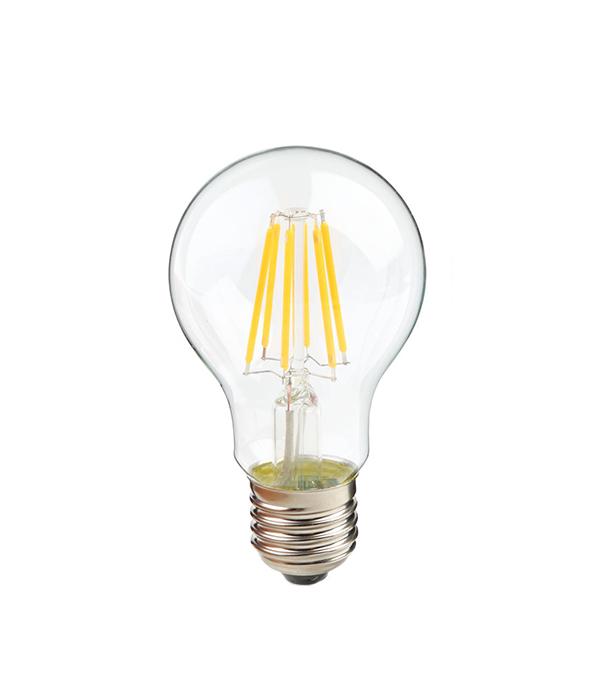 Лампа светодиодная E27 7W A60 филамент груша 2700K теплый свет лампа светодиодная форма груша мощность 8вт белый свет цоколь e27 прозрачная