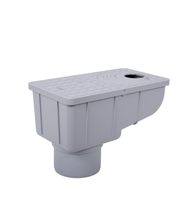 Купить Ливнеприемник вертикальный с сеткой REDI/Europlast серый, Пластик