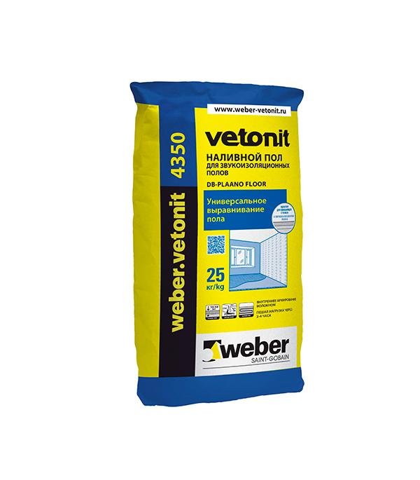 Купить Наливной пол Вебер Ветонит 4350 для звукоизоляционных полов 25 кг, Vetonit