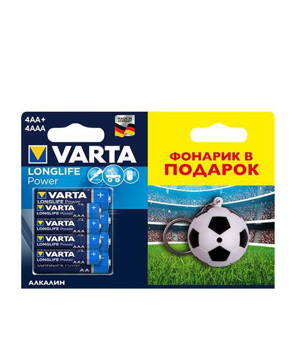 Батарейка VARTA LR6 LR03 AA/AAA (4+4 шт) батарейки samsung pleomax lr6 aa 10 шт