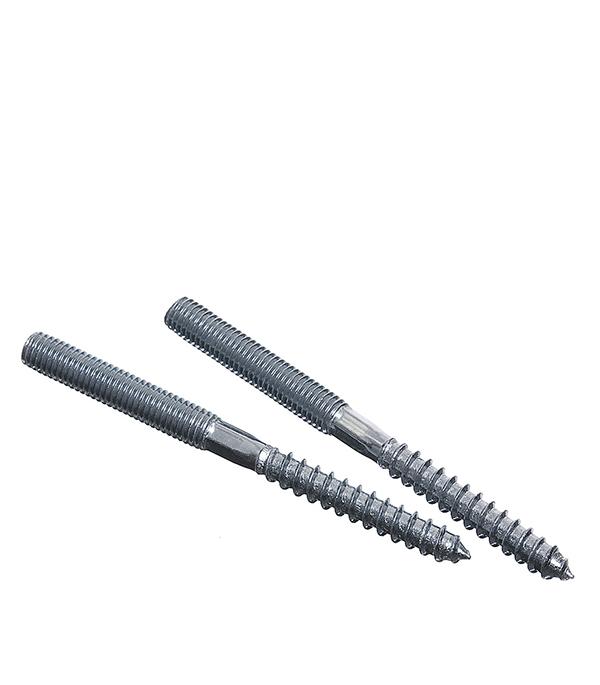 Шпилька сантехническая М8х100 мм оцинкованная (2 шт) врезка оцинкованная для круглых стальных воздуховодов d125х100 мм