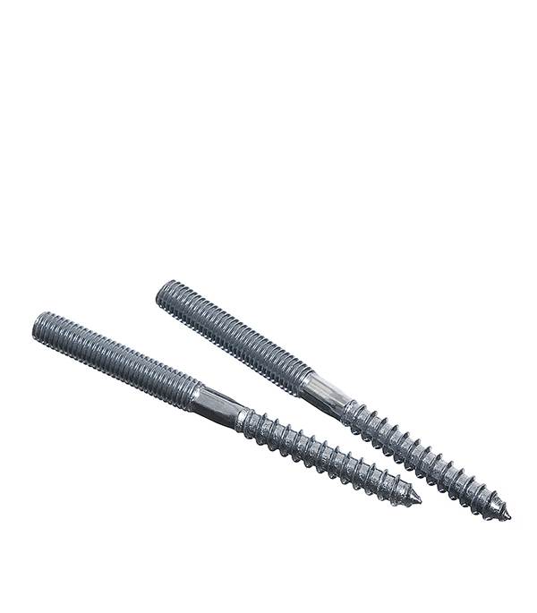 Шпилька сантехническая М10х100 мм оцинкованная (2 шт) врезка оцинкованная для круглых стальных воздуховодов d125х100 мм