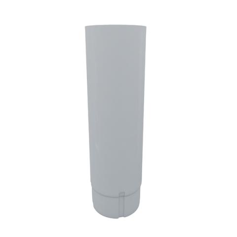 Купить Водосточная труба металлическая Grand Line d90 мм 2.5 м белая, Белый, Металл