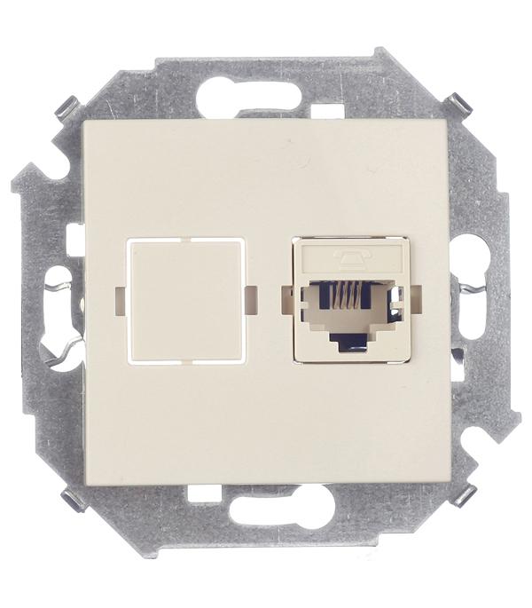 Механизм розетки телефонной RJ11, Simon 15, слоновая кость аксессуары для телефонов fk rj11 6p4c adsl splitter filter
