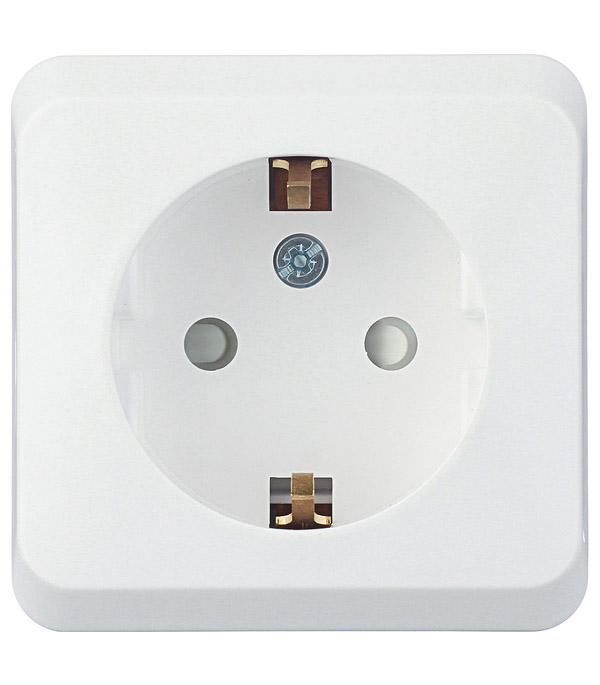 Купить Розетка о/у с заземлением со шторками Schneider Electric Этюд белая, Белый