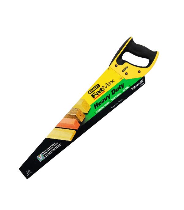 Ножовка по дереву Stanley 550 мм крупный зуб ножовка по дереву stanley 450 мм крупный зуб