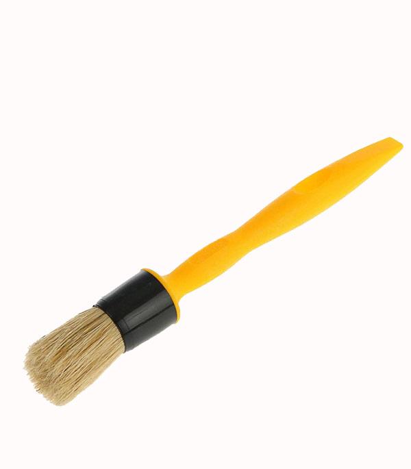 Кисть круглая Стандарт натуральная щетина пластиковая ручка 15 мм кисть радиаторная 63 мм натуральная щетина деревянная ручка hardy стандарт